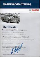 использование программы esi tronic сертификат 03